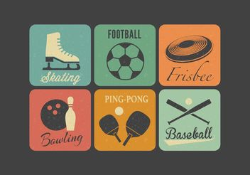 Free Retro Sport Vector Icons - бесплатный vector #141891