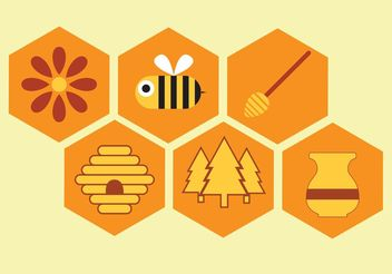 Vector Honey Icon Set - vector gratuit #141971