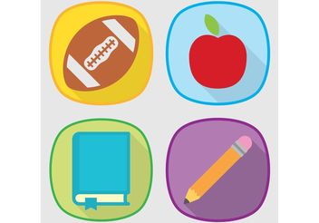 School Vector Icon Set - vector gratuit #141981