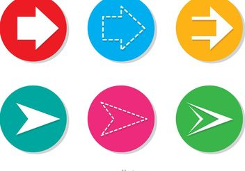 Arrow Vector Icons Set - vector gratuit #141991