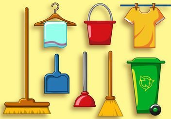 Clean Services Vector Icon Set - Free vector #142011