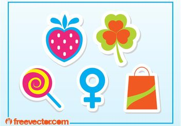 Free Sticker Vectors - бесплатный vector #142041
