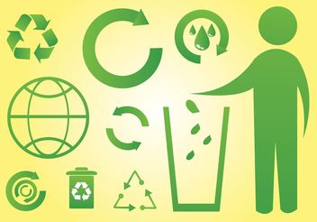 Green World Icons - vector gratuit #142061