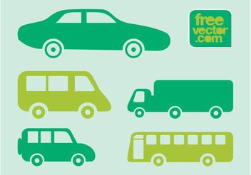 Vehicles Icons - vector gratuit #142081