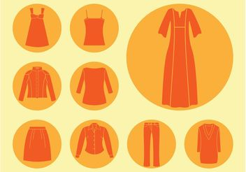 Clothes Icons Vector - Free vector #142101