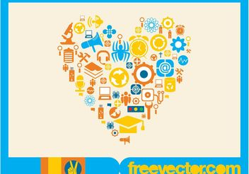 Vector Icons Heart - vector gratuit #142121