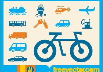 Transport Icons - vector gratuit #142131