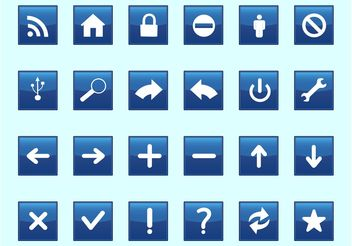 Square Technology Icons - vector #142221 gratis