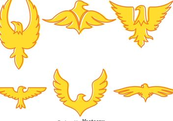 Golden Eagle Vector Icons - vector #142231 gratis