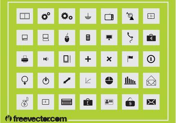 Square Icons Graphics - vector gratuit #142251