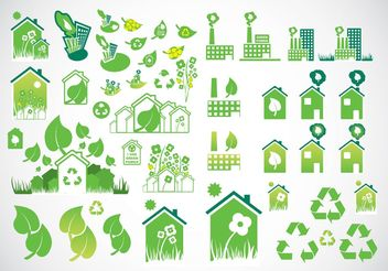 Environmental Icons - vector #142271 gratis