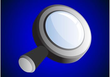 Shiny Magnifying Glass - vector gratuit #142291