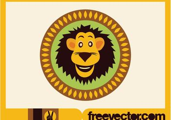 Lion Button - vector gratuit #142301