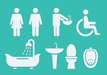 Rest Room Symbols & Icons - vector #142331 gratis