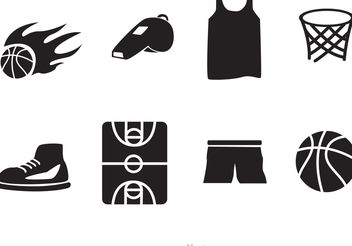 Basketball Vector Icons - vector #142411 gratis