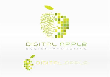 Digital Apple Logo - Free vector #142491