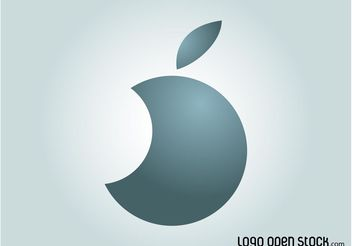 Circle Apple Logo - vector gratuit #142521