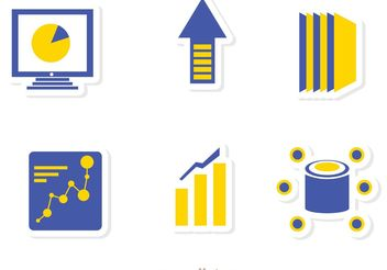 Big Data Management Icons Vector Pack 2 - vector gratuit #142541
