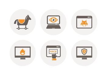 Free Computer Criminal Vector Icons - Free vector #142551