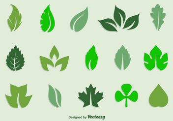 Leaves Vector Icon Set - Free vector #142561