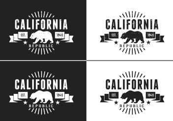 Free California Bear Vector Retro Logo - vector gratuit #142571