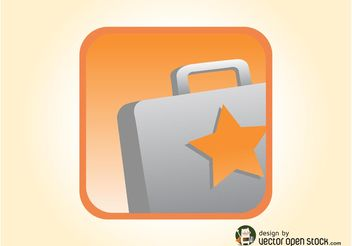 Briefcase Icon Vector - бесплатный vector #142621
