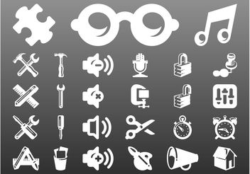 Technology Icons Set - vector gratuit #142661