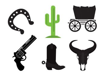 Wild west icons - Free vector #142711