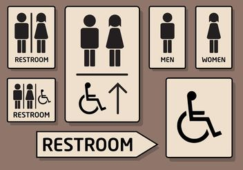 Rest Room Vector Icons - Free vector #142731