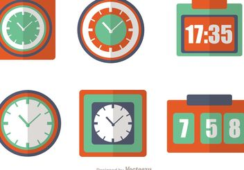 Clock And Time Icons Vector Pack - Free vector #142831