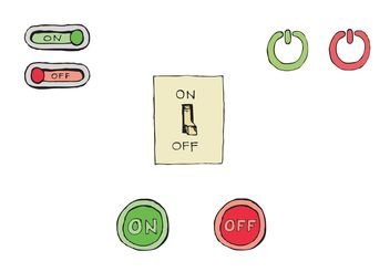 Free On/Off Button Vector Series - бесплатный vector #142841