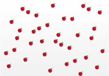 Apples Pattern - vector gratuit #142881