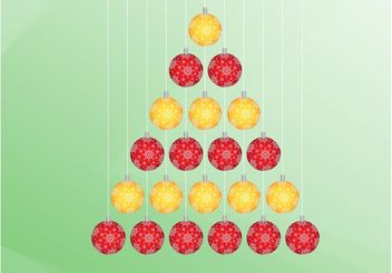 Christmas Tree From Ornaments - Free vector #142911
