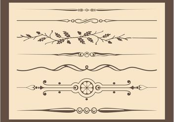 Antique Vector Ornaments - vector gratuit #142921
