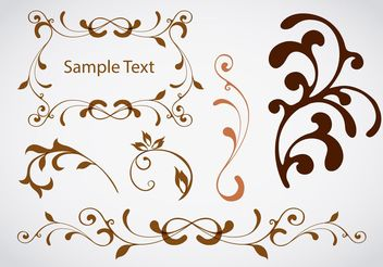 Design Swirl Vector Elements - vector gratuit #142941