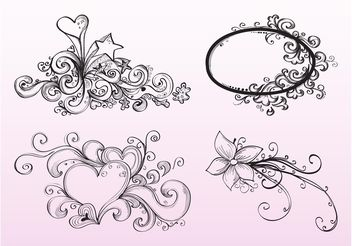 Hand Drawn Ornaments - бесплатный vector #143051