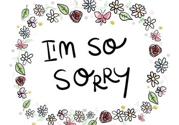 Sorry Card Watercolor Ornaments - vector #143061 gratis