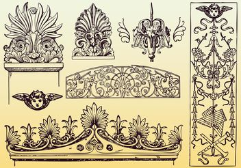 Antique Decoration Vectors - Free vector #143111
