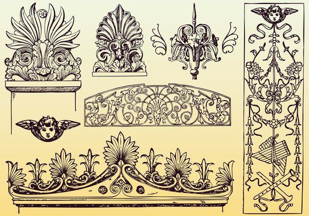 Antike dekoration vektoren kostenloser vektor download Antike dekoration