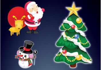 Christmas Illustrations - Free vector #143181