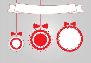Festive Decorations - vector gratuit #143211