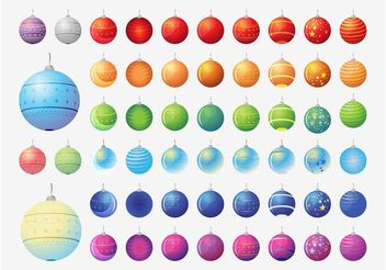 Vector Christmas Balls Collection - vector gratuit #143271