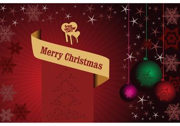 Christmas Poster - Kostenloses vector #143301
