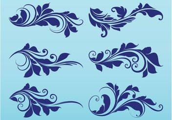 Plant Scrolls Graphics - Free vector #143351