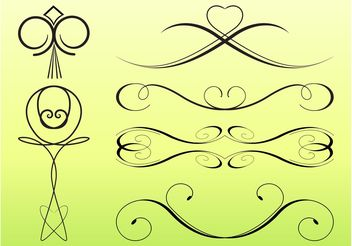 Swirling Decorative Lines - Free vector #143371