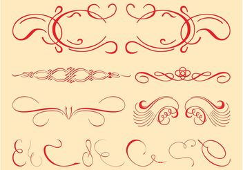 Vintage Decorative Swirls Set - бесплатный vector #143391