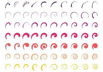 Colorful Swirls Set - vector gratuit #143401