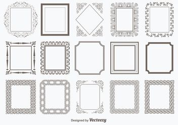 Decorative Vector Frames - бесплатный vector #143441