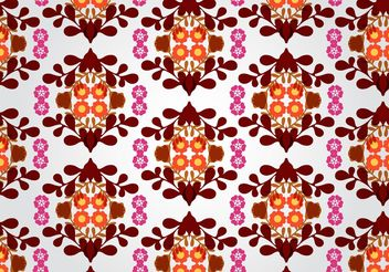 Seamless Floral Pattern Vector - бесплатный vector #143491