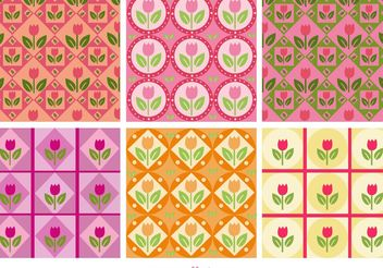 Floral Pink Patterns - vector #143541 gratis